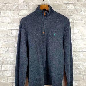 Mens's Estate-Rib Quarter-Zip Pullover|M